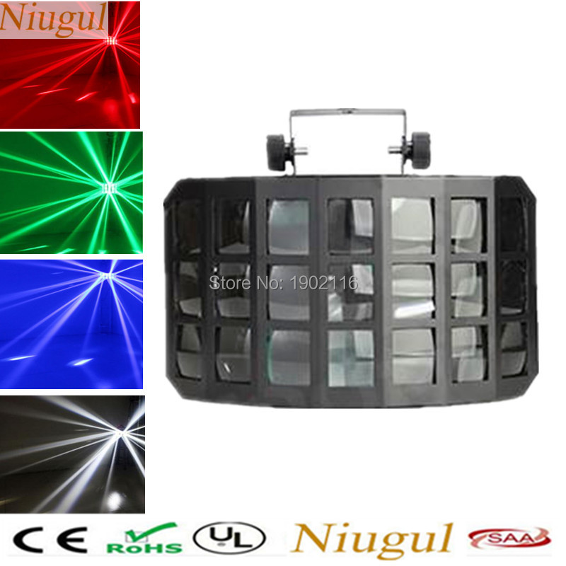 50W LED Butterfly Stage Light DMX512 RGBW Indoor LED Stage Lights Disco Party DJ Projector KTV nightclub bar lamp LED beam light 2pcs dj disco par led 54x3w stage light dmx strobe flat luces discoteca party lights laser rgbw luz de projector lumiere control
