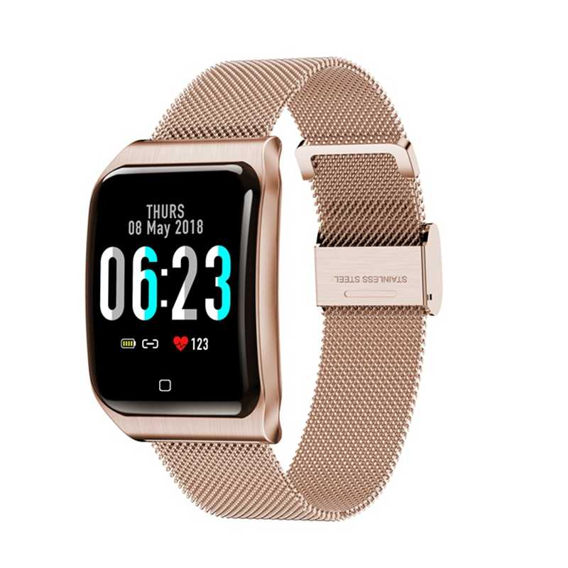 2019 Color screen smart bracelet 1.3 metal belt heart rate blood pressure waterproof IP68 step bracelet smart watch band