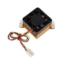 Pcノースブリッジチップセットアルミクーラーヒートシンク 40 ミリメートルファン 3Dプリンター冷却高品質palstic + アルミNoEnName_Null