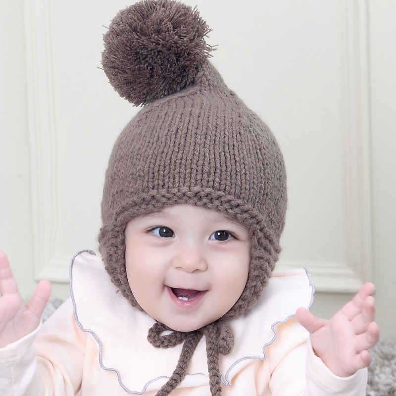 MILANCEL New Cute Baby Hat Toddler Kids Boys Girls Knitted Crochet Beanie Winter Warm Hat Knitted Cap for Baby
