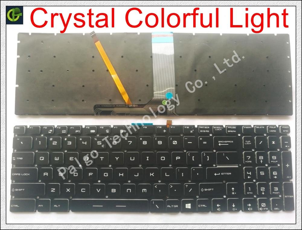 Новый английский Кристалл RGB подсветкой красочные клавиатура для MSI GT62 GT72 GE62 GE72 GS60 GS70 GL62 GL72 GP62 GT72S GP72 GL63 GL73 нам
