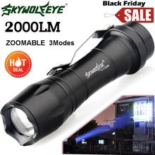 DC 27 Shining Hot Selling Fast Shipping   2000LM CREE Q5 AA/14500 3Mode ZOOM LED Super Bright Flashlight MINI Police Torch