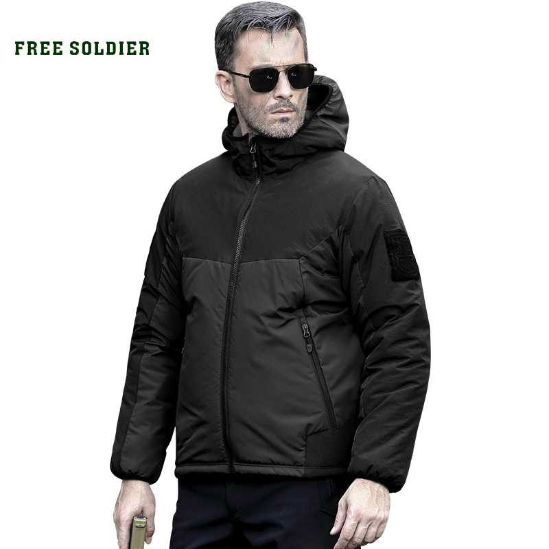 FREE SOLDIER outdoor sports tactical military jacket winter men's cloth outerwear coat for camping hiking
