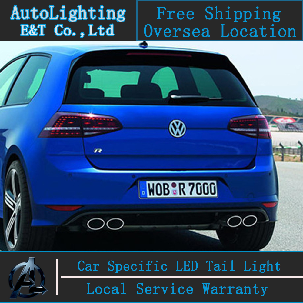 Auto Lighting Style LED Tail Lamp for VW Golf 7 led taillight assembly GTI R20 Golf7 LED rear lamp santafe drl+signal+brake. new high quality 1 piece led dark red tail lamp tail light right fit for vw golf gti r mk7 2013 2016 5g0 945 208 5g0945208