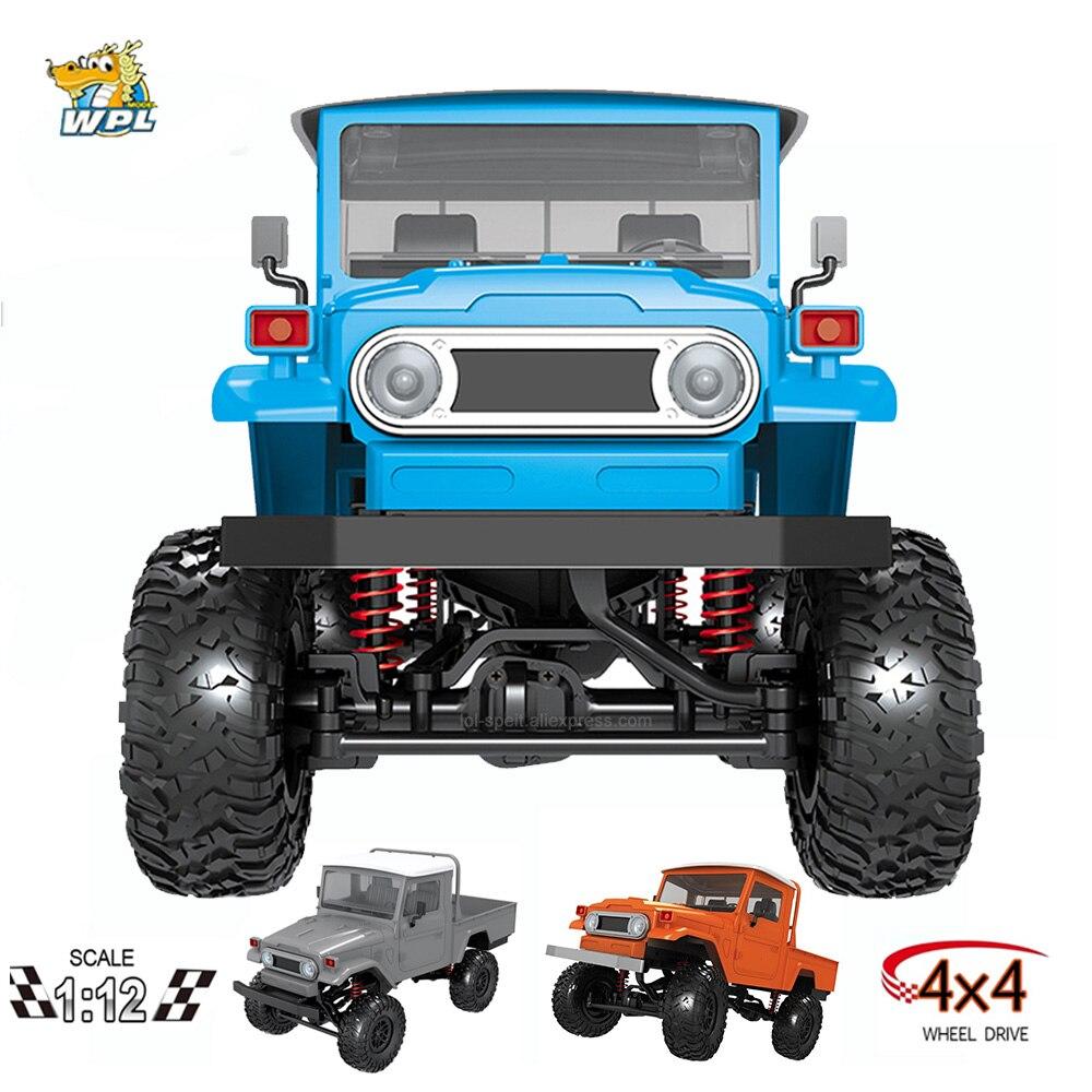WPL RC Car MN-45 KIT RTR 1/12 Scale 2.4G 4WD Multiple Colour Rc Car LED Light Crawler Climbing Off-road Truck FJ45 For Boys Kids