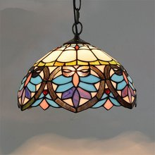 Vintage Tiffany Pendant Lights Stained Glass Hanglamp for Kitchen Home chain lamp Decor dining room Lighting Fixtures Luminaire mediterranean tiffany pendant lights stained glass lamp light for kitchen home decor lighting fixtures vintage led luminaire