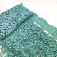 5Yard 28.5cm Water Soluble Cotton Lace Fabric Crochet French Lace Trim Dress Applique Guipure Dentelle Sewing Accessories AC0128