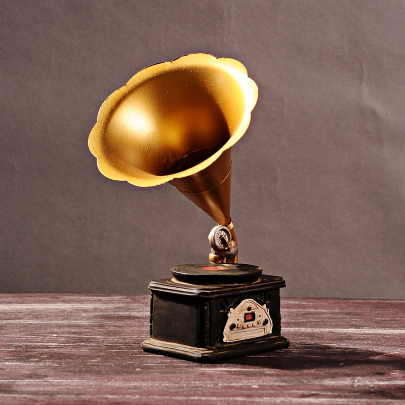 Creative gifts Resin Phonograph Model Retro Bar Home Decoration do old resin furnishing articles Craft