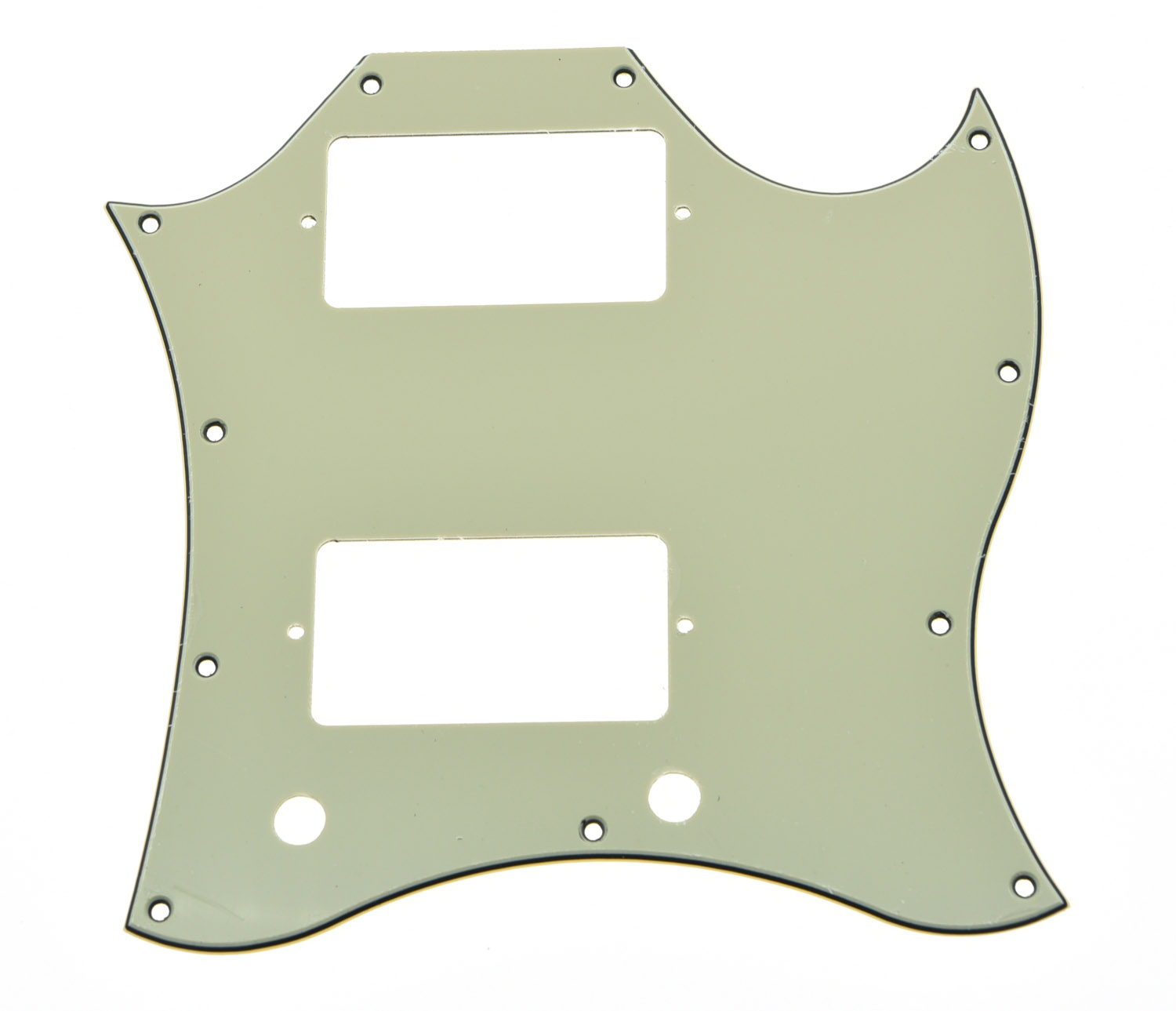 KAISH SG Standard Full Face Guitar Pickguard Scratch Plate Light Cream with Screws standard sg special guitar full face pickguard w p90 pickup hole white pearl