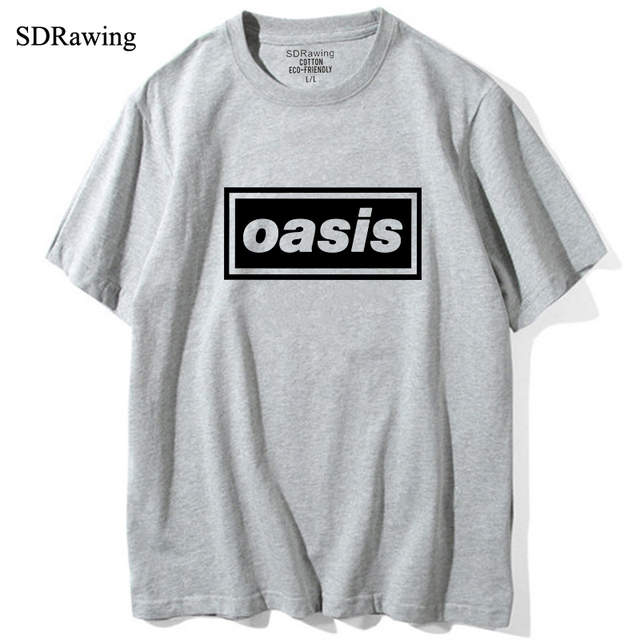 64a56972f5d23 Online Shop OASIS brand t shirts top tees t shirts music liam noel gallagher  tour band concert tock t shirts Tees cotton t Shirt Unisex