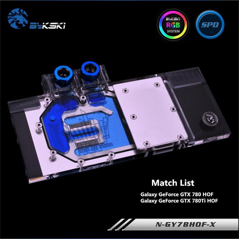 Bykski Full Coverage GPU Water Block For Galaxy GTX780TI GTX780 HOF Graphics Card N-GY78HOF-X computador cooling fan replacement for msi twin frozr ii r7770 hd 7770 n460 n560 gtx graphics video card fans pld08010s12hh