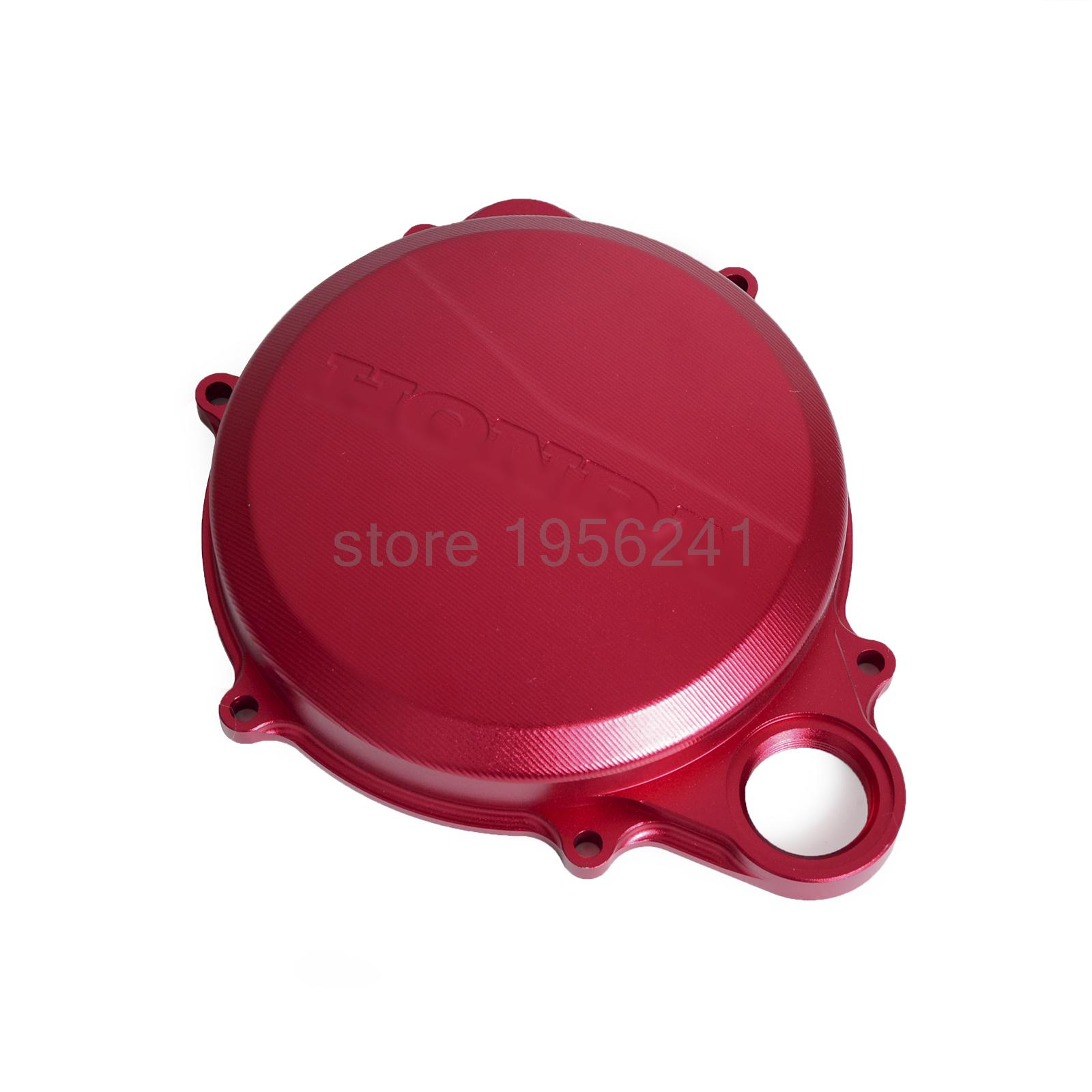 CNC Right Engine Clutch Cover for Honda CRF250R 2010 2011 2012 2013 2014 2015 2016 CRF 250R for honda crf 250r 450r 2004 2006 crf 250x 450x 2004 2015 red motorcycle dirt bike off road cnc pivot brake clutch lever
