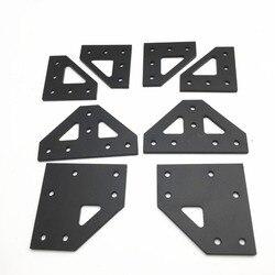 Atualização am8 a8 4mm placa de canto superior inferior alumínio t placa canto inferior placa kit para am8 3d extrusão impressora metal quadro