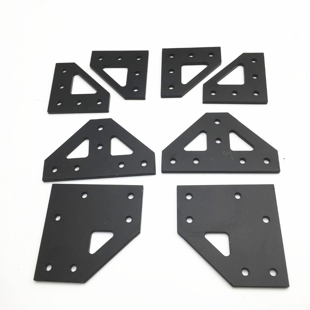 Upgrade AM8 A8 4mm Aluminum Bottom Tee Plate Top Corner Plate Bottom Corner Plate Kit For AM8 3D Printer Extrusion Metal Frame