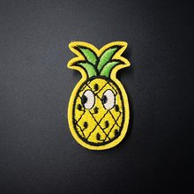 Pineapple (Size:3.2x5.5cm) Cloth Badge Mend Decorate Patch Jeans Jackets Bag Clothes Apparel Sewing Decoration Applique(China)