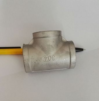 """DN20 3/4"""" BSP Female Thread Three TEE Joint Pipe Connection 304 Stainless Steel Connector Fittings"""