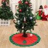 New Year Home Decor 90cm Christmas Santa Claus Elk Tree Skirt Apron XMAS Tree Decoration Ornament Christmas Party Supplies