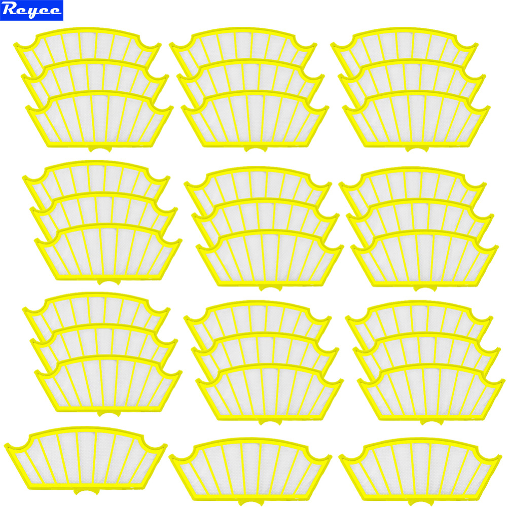 New Total 30Pcs Filter Filters For iRobot Roomba 500 Series 530 540 550 560 570 580 Yellow Hi-Q Plastic Filters Free Post total 12pcs filters