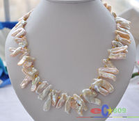 Hot selling free shipping******* Angel wings pink REBORN PEARL NECKLACE 20inch p3625