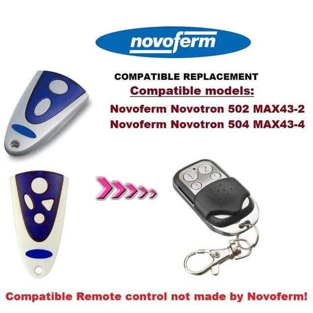 Novoferm Novotron 502/504 replacement rolling code transmitter novoferm novotron 504 max43 4 transmitter 433 92mhz rolling code free shipping