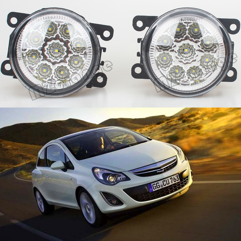 Fog Lights For OPEL CORSA D Hatchback 2006-2011 Front Bumper LED High Brightness Fog Lamps 2pcs per set защита картера автоброня 111 04202 1 opel corsa d 2006 opel combo 2008