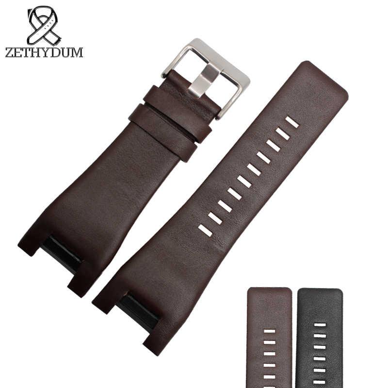 Pulsera de cuero genuino de alta calidad correa de reloj 32*18mm para correa de reloj diésel para DZ1273 DZ1216 DZ4246 DZ4247 DZ287 Correa