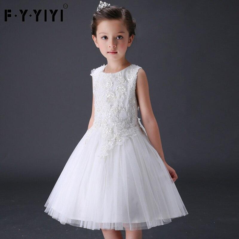 Children's wedding dress The girls' clothes High quality yarn lace puff dress Flower Princess Dress свадебное платье happy about the wedding dress hs1861 2015