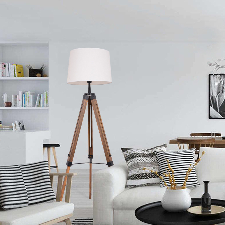 Simple Triangle Floor Lamps Nordic personality creative woody American solid wood floor lamp ZL23