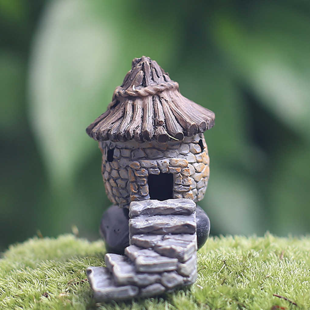 Feiqiong Fairy Cottage Landscape Decor Resin House Garden Ornament