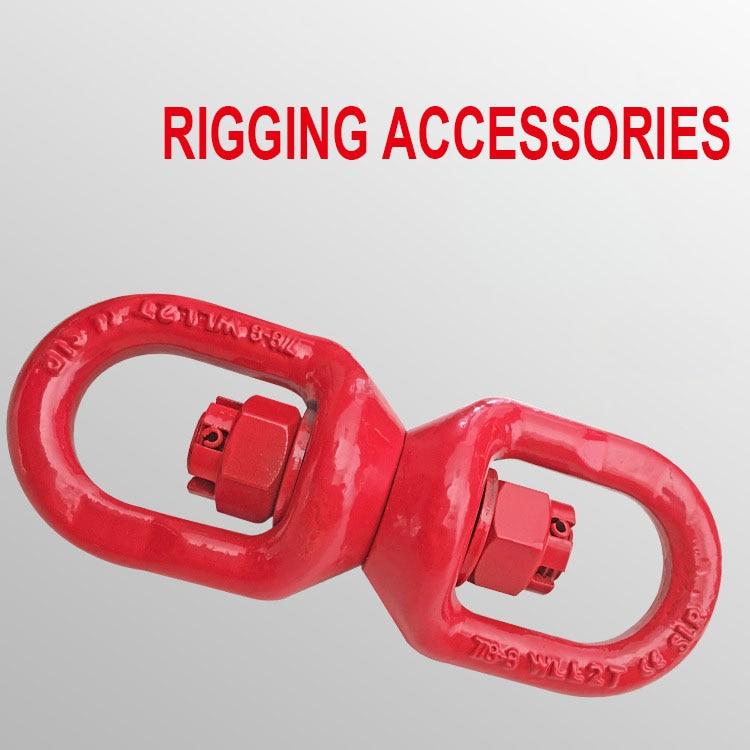 8 тонн 8 Форма такелажа аксессуары подъема Универсальный вращающийся кольцо соединительные кольца подъемный инструмент Аксессуары