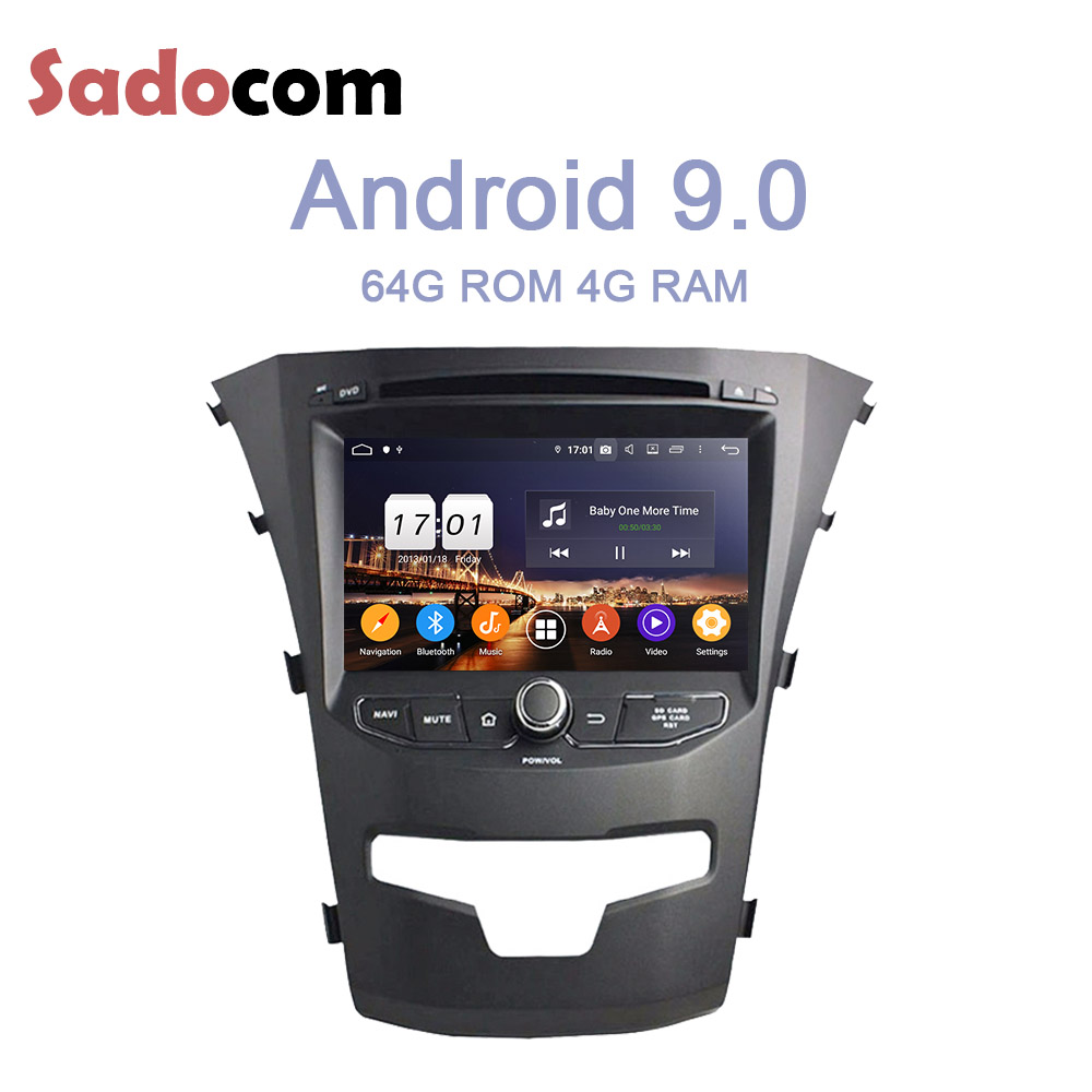 DSP IPS TDA7851 2 din Android 9 0 For SsangYong Korando 2014 4GB RAM 64GB Car