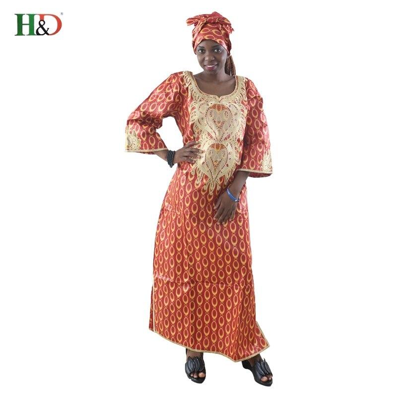 Gratis frakt 2017 nya afrikanska bazin riche klänning för kvinnor - Nationella kläder - Foto 1