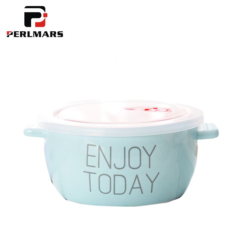 Modern Ceramic Lunch Box with Seal Lid Kit / Can Put To Microwave Oven / Dinnerware Tableware Rice Box Soup Bowl Bento Bowls image