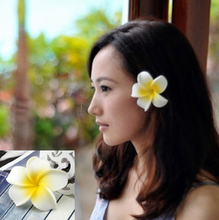 New fashion mixed color Fabulous Plumeria flowers Foam Frangipani Flower hair clip  bridal