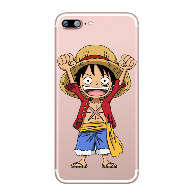 ONE PIECE Phone Case Japanese Anime Luffy Zoro Coque for Apple iphone 7 8 plus 6S X 5 6 5S SE 6PLUS Silicone Soft Clear TPU Capa (5)