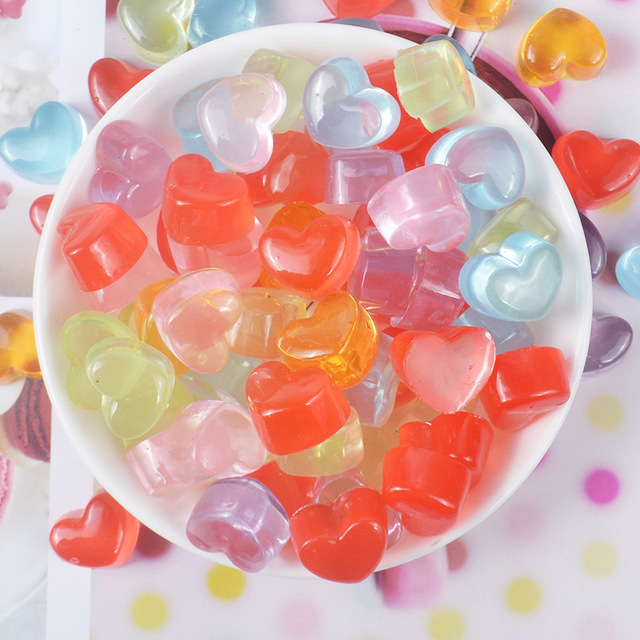 10pcs/lot Kawaii Resin Round Candy Beads Miniature Cabochon Filler For Clear/Fluffy Mud Box Slime DIY Kit Accessories Home decor