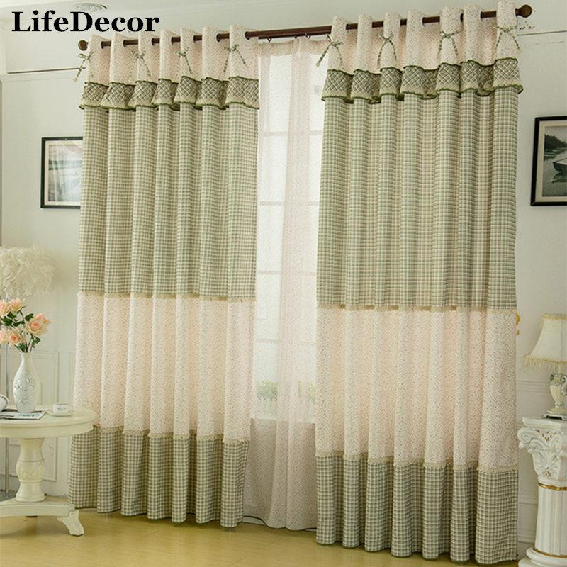 Fairies Window Curtains Rustic Style Curtain Small Plaid