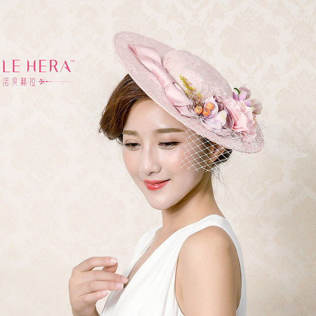 Natural Linen Wedding Bridal Hat Fine Garden Bridal Take Photo Hair Accessory Bride Mother Special Occasion Party Hat
