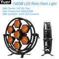 新 7x60 ワット LED レトロフラッシュライト 1/6/7 チャンネル DMX512 Dj サウンドパーティー機器点滅ライトダンスクラブステージ効果光