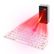 Laser z bluetooth klawiatura bezprzewodowa wirtualna projekcja klawiatura przenośny dla Iphone smatfon z androidem Ipad Tablet PC
