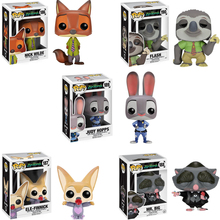 FUNKO POP Zootopia JUDY HOPPS NICK WILDE FLASH Anime Figure Original Box Vinyl Action Figure Collectible Model Toys Gift 2F42 wisehawk nanoblocks zootopia judy hopps nick wilde plastic building blocks bricks anime cartoon diy model educational toys kids