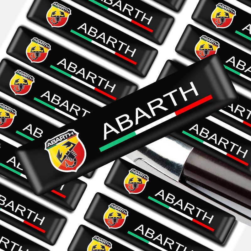 10 Pcs Mobil Styling Mobil Protective Bar Stiker Dekoratif Lencana untuk Lada FR Kia STI OPC St Olahraga Abarth Turbo TDI Opel BMW MINI