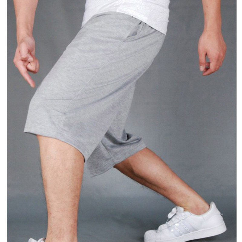 HOT 2019 Summer Sport training running GYM Solid Drawstring Loose Practice Shorts Men Board Short Trousers Plus Size 4XL in Casual Shorts from Men 39 s Clothing