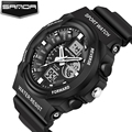 SANDA 241G Waterproof Men Sport Watch digital army military Wristwatch mens automatic datejust clock top quality chronograph