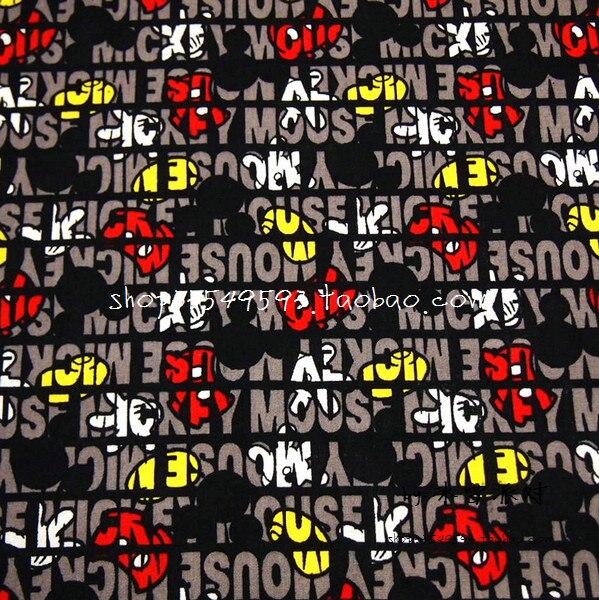9c5c2438a7 140X100 cm Mickey Mouse Luva Branca Sapatos Amarelos Vermelhos Pant Preto  Tecido de Algodão Conjunto de Cama de Pano Do Bebê Menino Hometextile DIY  AFCK598 ...