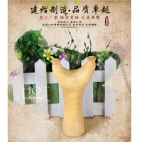 Leaflets Boxwood Glossy Tiger Wooden Slingshot for Outdoor Shooting Activity