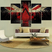 Canvas Art HD Print Modular Pictures One Set 5 Pieces British Eagle Paintings For Modern Decorative Living Room Wall Framework