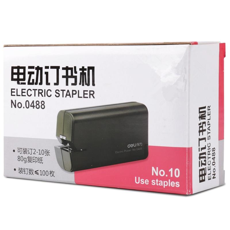 0488 Automatic High Quality Desktop Electric Stapler School Office Stapler Book Sewer use NO.10 Staples все цены