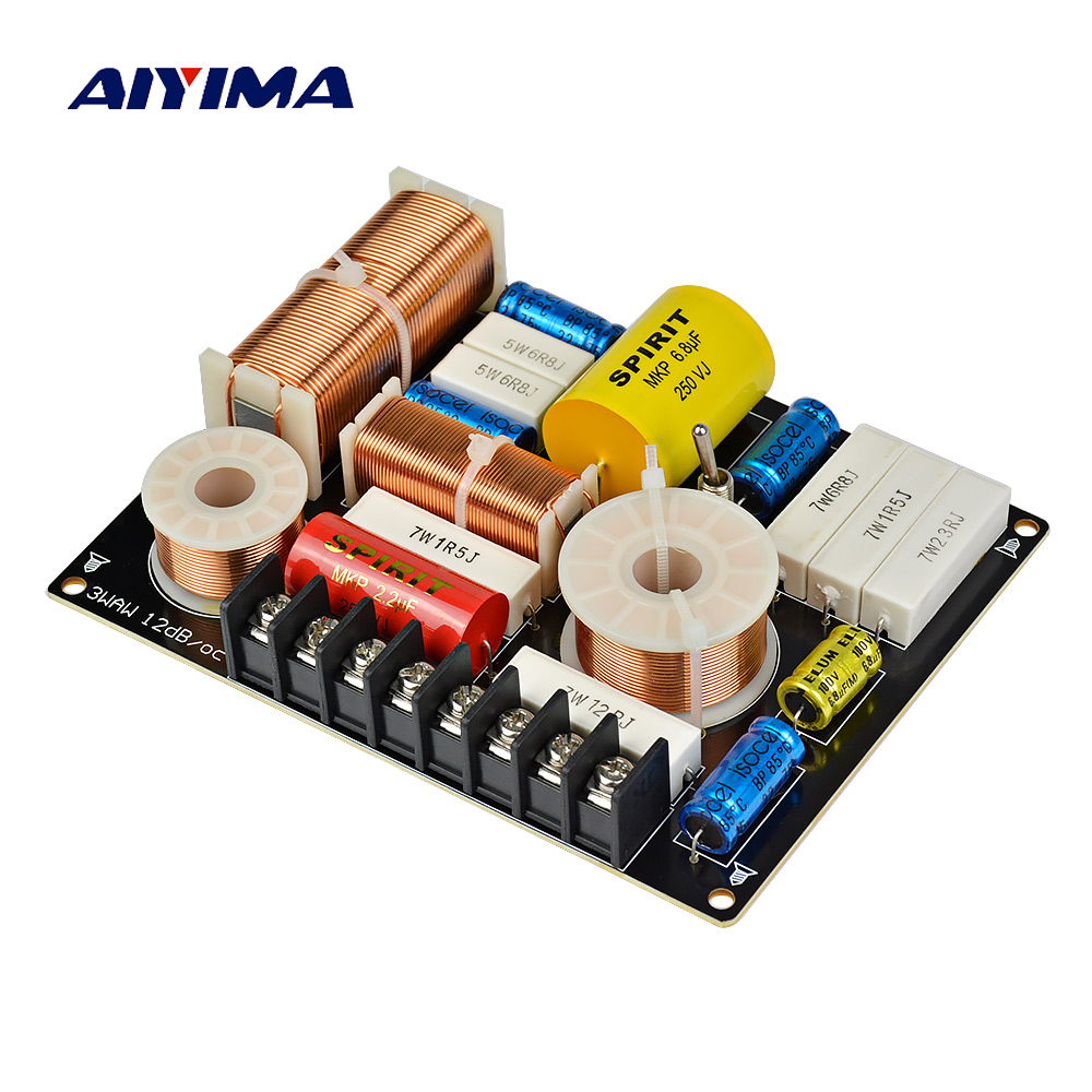 Aiyima 1pc B 208c 2way 2unit Hifi Speaker Frequency Divider Way Crossover Circuit Diagram Speakers 3 Audio 280w Bass Midrange Treble Professional Diy For Home