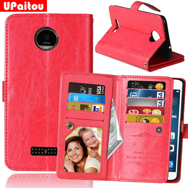 Upaitou Retro 9 Card Holder PU Leather Case For Motorola Moto Z/Z Droid/X4/XT1650 Flip Wallet Cover Magnetic Cases Pouch Pocket